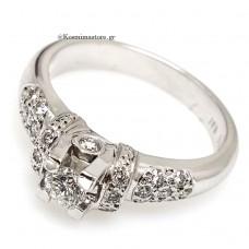 18 Καράτια δαχτυλίδι μέ μπριγιάν.