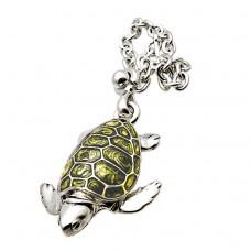 Hippocampus silver Keychains