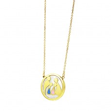 Necklace made of 14 carat gold and enamel