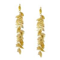 Εντυπωσιακά σκουλαρίκια από ορείχαλκο με κρεμαστά φύλλα