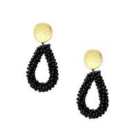 Εντυπωσιακά σκουλαρίκια από Ορείχαλκο με πέτρες Ζιργκόν