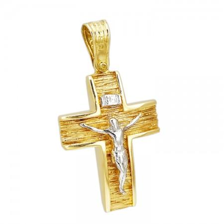 Σταυρός με τον Εσταυρωμένο από Χρυσό 14 Καρατίων