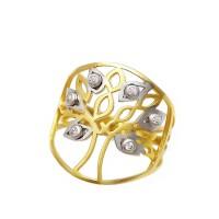Δαχτυλίδι με το δέντρο της ζωής σε 14 καράτια χρυσό
