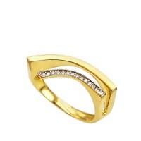 Δαχτυλίδι από χρυσό 14 Καράτια με ζιργκόν.