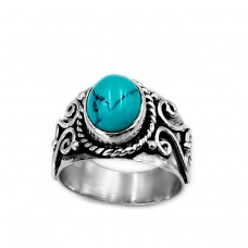 Ring made of silver 925 with genuine turquoise