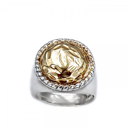 925 ° Silver Ring and 18ct Gold