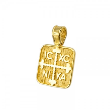 Constantinato pendant made by 14 carat gold.