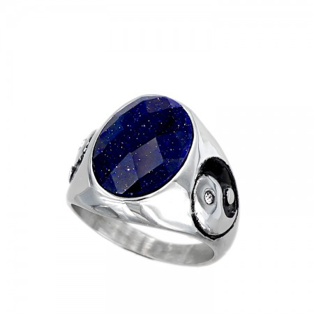 Stainless steel Ring with symbol yin yang