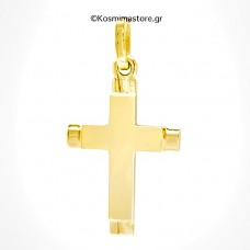 14K Polished Gold Cross