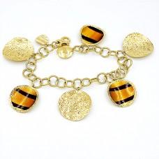 Bracelet made of 18K gold with enamel