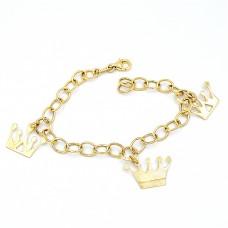 14K Gold Bracelet with Crowns