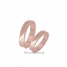 Wedding rings of  pink gold 14 carat