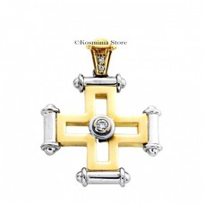 18 Carat gold cross with diamonds
