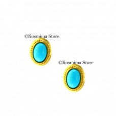 18 Carat gold with turquoise earrings