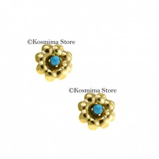 14 carat gold  Earrings with turquoise