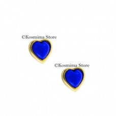 14 Carat gold Earrings with lapis lazuli