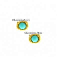 14 Carats gold Earrings with turquoise