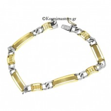 Bracelet Yellow and white gold 14 carats