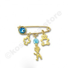 Children pin 9 carat gold