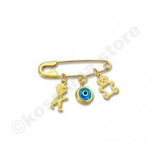 Children's  pin  9 carat gold