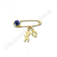 Children pin 9 carats gold