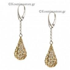 925 Silver Earrings gilded