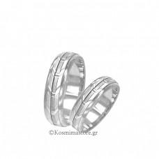 Wedding rings of  white gold 14 carat
