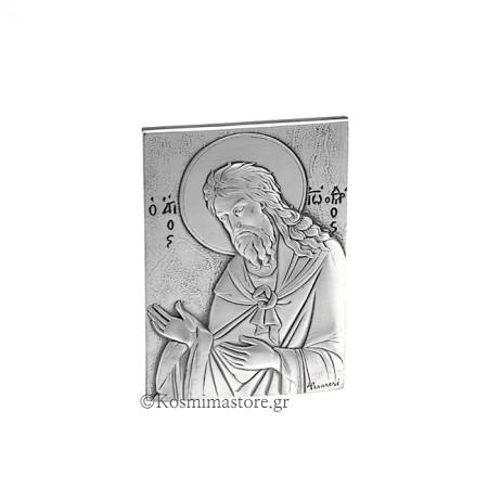 Εικόνα από Ασήμι 925° με τον Άγιο Ιωάννη