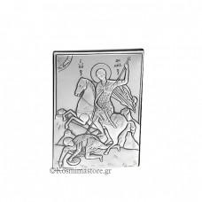Εικόνα από Ασήμι 925°με τον Άγιο Δημήτριο