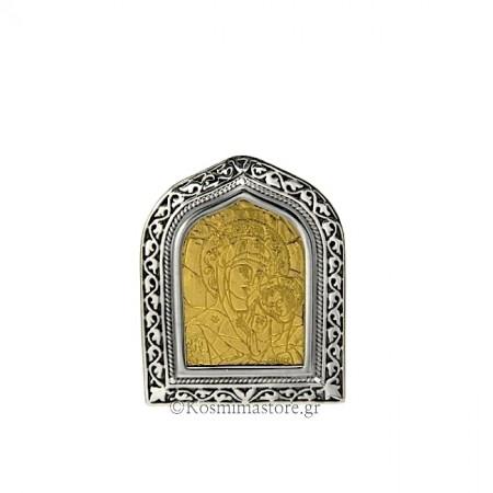 Εικόνα από Ασήμι 925° καί φύλλο Χρυσού 24 καρατίων