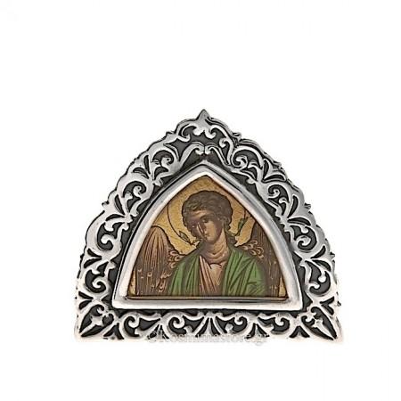 Εικόνα από Ασήμι 925° και Αγιογραφία με τον Αρχάγγελο Μιχαήλ