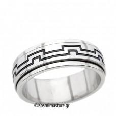 Δαχτυλίδι Antistress από Ατσάλι 316 με Μαίανδρο