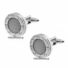 Cufflinks Steel and Carbon