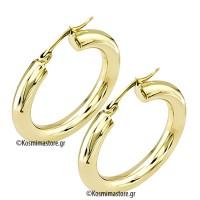 Χρυσά σκουλαρίκια Κρίκοι 14 Καρατίων