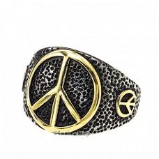 Ατσάλινο δαχτυλίδι με το σύμβολο της ειρήνης