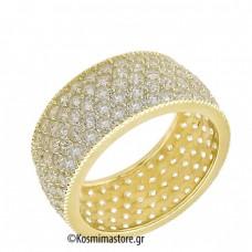 Δαχτυλίδι από χρυσό 14 Καρατίων μέ ζιργκόν Cubic