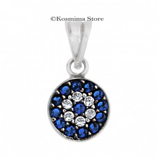 14Carats white gold  eye pendant with zircon