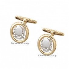 Cufflinks of white and yellow gold 18K