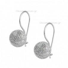 Earrings hanging white gold 14K