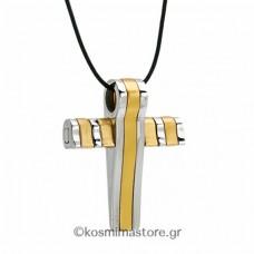 Ανδρικός Σταυρός από Ατσάλι