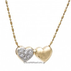 14k Gold necklace with cubic zirconia