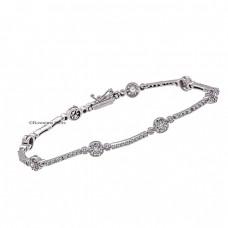 14 carat white gold bracelet with zircons