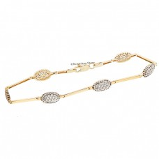 14 carat gold bracelet with zircons