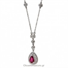 Necklaces of gold 18 carats with rubies and Diamonds.