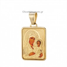 14K Gold Virgin with Silkscreen
