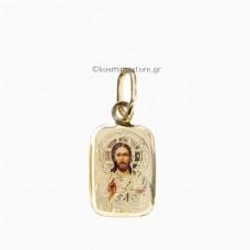 Χριστός απο χρυσό 14 Καράτια με Μεταξοτυπία
