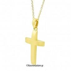 'Ενας λιτός ανδρικός Σταυρός από Χρυσό 18 Καρατίων
