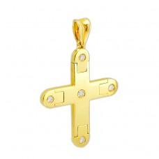 18 carat gold Cross with diamonds