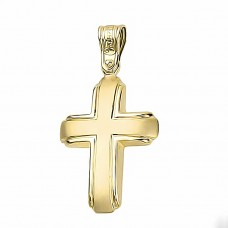 Εντυπωσιακός Χρυσός Σταυρός 14 Καρατίων